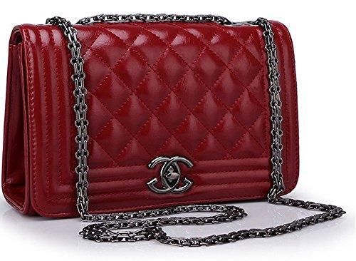 red-leather-quality-good-woman-brown-black-knapsack-handbag-messenger-bag-bag-4802-wine-red