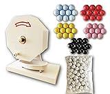 ガラポン抽選器300球用 <福引きポン>(専用抽選球300個付き) 玉が詰まりにくいABS製