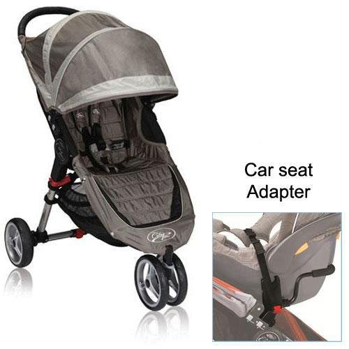 baby jogger city mini stroller in sand stone with a car seat adapter solomon r weaverher. Black Bedroom Furniture Sets. Home Design Ideas