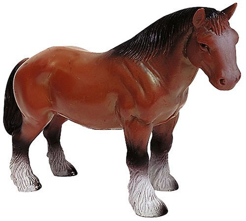 Bullyland Brown Hanoverian Horse Plastic Toy Figure - 1