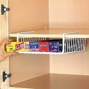 Under Shelf Wrap Rack Home Kitchen