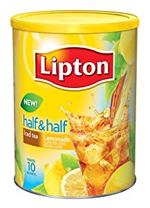 Lipton Half and Half Sweetened Instant Tea Mix, Iced Tea and Lemonade, 24.34 Ounce (Pack of 6)