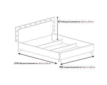 lit design beliza 160cmx200cm 160cmx200cm avec matelas special dos reveluxe sans sans. Black Bedroom Furniture Sets. Home Design Ideas