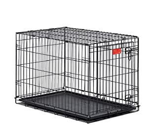 Midwest Life Stages Double-Door Folding Metal Dog Crate, 30-Inch by 21-Inch by 24-Inch