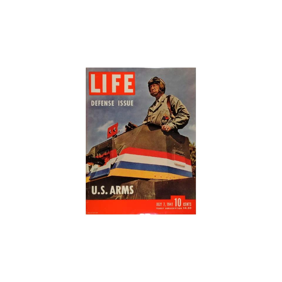 1941 Cover LIFE Military Defense WWII George Patton Jr. 2nd Armored Division War   Original Cover