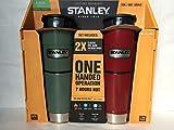 Stanley スタンレー Classic Vacuum Bottle ワンハンド真空マグ 473ml グリーンとレッドのお得な2本セット ステンレス水筒 [並行輸入品]