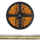 HitLights LED Strip Light - Flexible, Warm White, 300 LEDs, 16.4 Feet Spool (5 meters), 12VDC Input (Adapter not included)