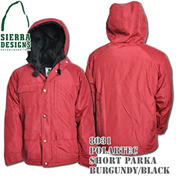 Polartec Short Parka 8031: Burgundy / Black