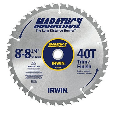 Irwin Industrial Tools 14053 8-1/4-Inch 40-Teeth Universal Arbor Miter and Table Saw Blade