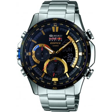 Casio ERA-300RB-1AER Mens Edifice Red Bull Blue Silver Combi Watch