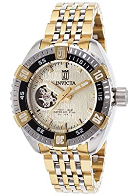 Invicta Women's 15887BWB Jason Taylor Analog Display Japanese Automatic Two Tone Watch