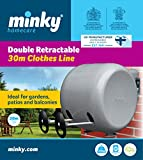 Minky Retractable Reel Washing Line - 30 m