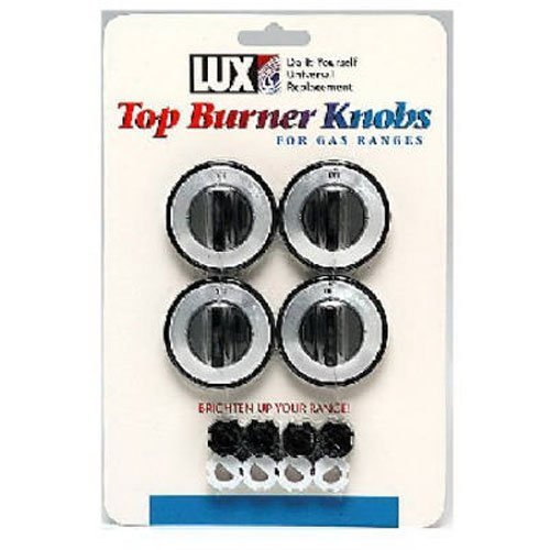 LUX PRODUCTS CPR410 Black Gas Burner Knob (4 Pack) (Stove Dials compare prices)