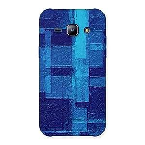 Cute Premier Blue Pattern Back Case Cover for Galaxy J1