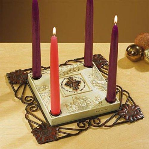 Star of Christmas Advent Candleholder ~ Advent Wreath ~ Abbey Press