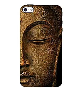 Fuson 3D Printed Lord Buddha Designer Back Case Cover for Apple iPhone 4S - D561