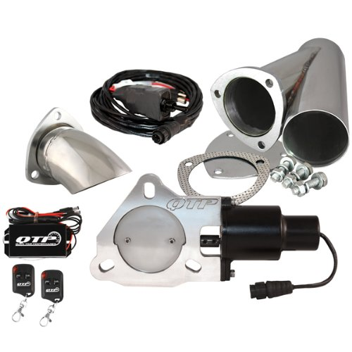 "Qtp Qtec30Cpsk2 3"" Electric Exhaust Valve Stainless Cutout Turn Down Remote"