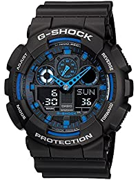 buy sports watches for men women children online in g shock analog digital blue dial men s watch ga 100 1a2dr g271
