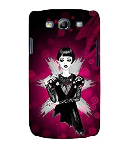 Ear Rings Fashion Girl Gown Cute Fashion 3D Hard Polycarbonate Designer Back Case Cover for Samsung Galaxy S3 i9300 :: Samsung I9305 Galaxy S III :: Samsung Galaxy S III LTE
