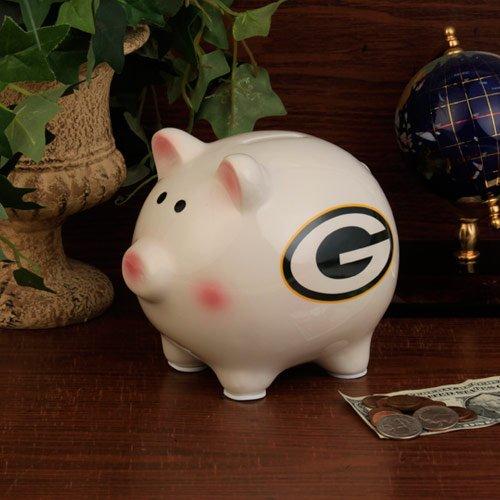 NFL Green Bay Packers Team Ceramic Piggy Bank