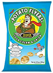 Potato Flyers Sour Cream & Onion, 5.5-Ounce Bags (Pack of 12)