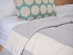 Eshma Mardini Turkish Cotton Quilt Bed Spread Blanket Bed Cover for All Season 98\