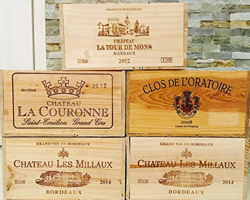 5 French Original Twelve count Bottles Wine Crates 1