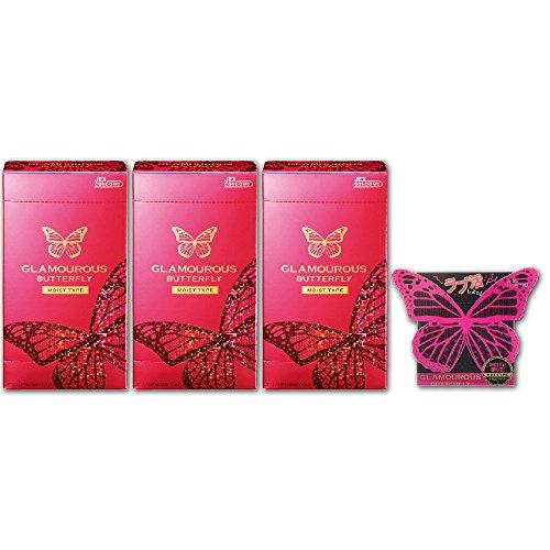 【まとめ買いセット】ジェクス コンドーム グラマラスバタフライ モイストタイプ (12個入×3箱+1個サンプル付)