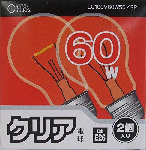 クリア電球LC100V60W55/2P LC100V60W55/2P