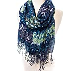 Abstract Feather Scarf