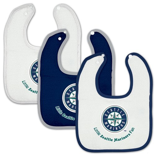 Seattle Mariners Baby Bib - 3pc set at Amazon.com