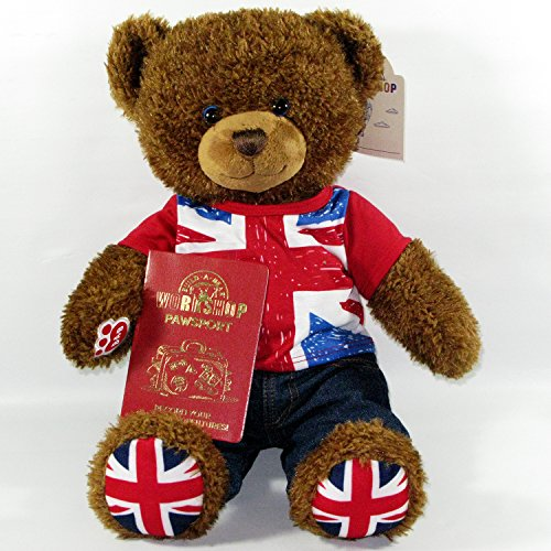 [Build A Bear Union Jack Teddy Bear Plush Dressed in Union Jack Outfit and Free United Kingdom UK] (Build A Bear Costumes Uk)