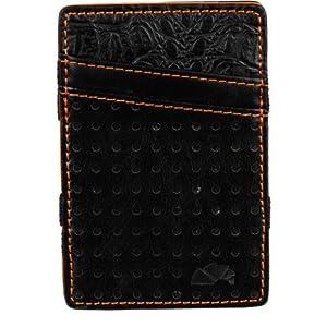 Armourdillo Criddle Flip Wallet, Black/Orange, 4x2-Inch