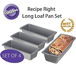 Wilton Recipe Right 2 Piece Long Loaf Pan Set - 4-Piece