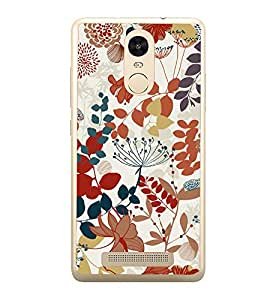 Flowers Leaves Pattern 2D Hard Polycarbonate Designer Back Case Cover for Xiaomi Redmi Note 3 :: Xiaomi Redmi Note 3 Pro :: Xiaomi Redmi Note 3 MediaTek