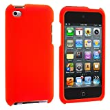 Orange Rubberized Snap-On Hard Skin Case Cover New for Apple Ipod Touch iTouch 4th Generation Gen 4g 4 8gb 32gb 64gb - Electromaster(TM) Brand