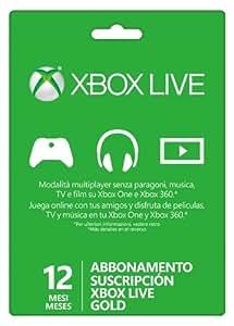 Microsoft - Suscripción Live Gold De 12 Meses