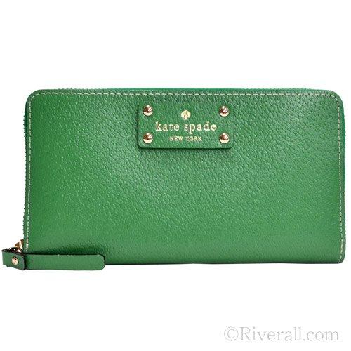 Kate Spade Neda Wellesley Verna Green Leather Zip Around Wallet