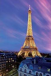 Cartoon world Eiffel Tower at Dusk Poster 20x30\'