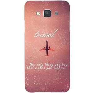 Casotec Travel Design Hard Back Case Cover for Samsung Galaxy A7