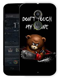 "Dont Touch My Phone Printed Designer Mobile Back Cover For ""Motorola Moto X2"" By Humor Gang (3D, Matte Finish, Premium Quality, Protective Snap On Slim Hard Phone Case, Multi Color)"