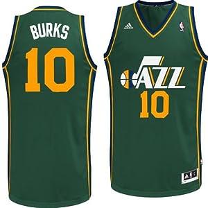 Utah Jazz Alec Burks #10 Swingman Jersey (Green) by adidas
