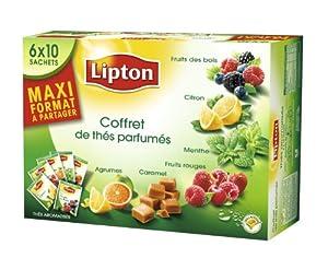 Lipton Thé parfumé coffret 60 sachets  - Lot de 2
