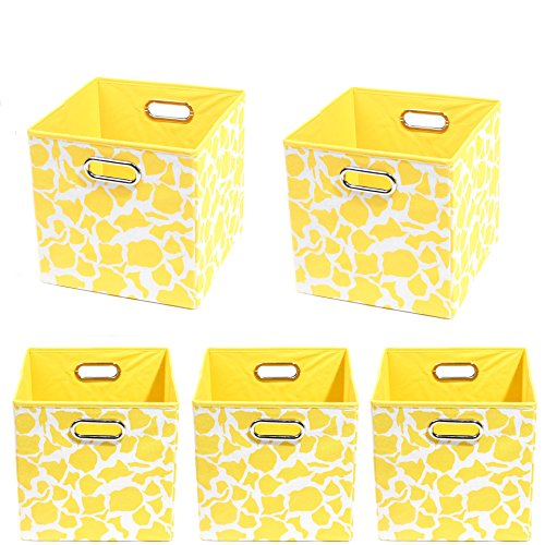 Modern Littles Organization Bundle-5 Storage Bins, Rusty Giraffe