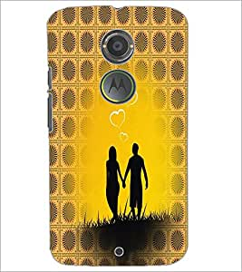 PrintDhaba Couple D-6006 Back Case Cover for MOTOROLA MOTO X2 (Multi-Coloured)