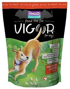 Halo Vigor Pork Salmon and Venison Dog Food, 14-Pound