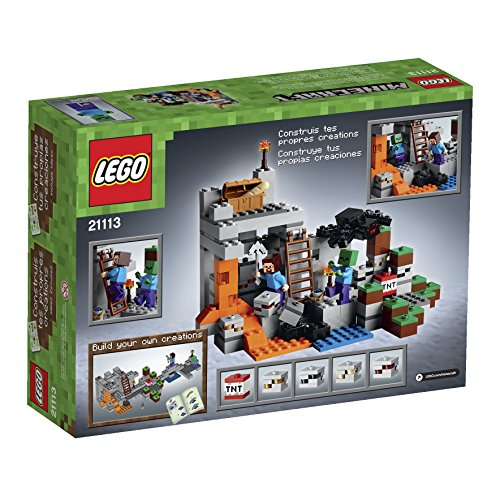 LEGO-Minecraft-The-Cave-21113-Playset