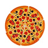 Childrens/Kids Plastic 6pcs Pizza Slices Pretend Food Kitchen Role Play Toys