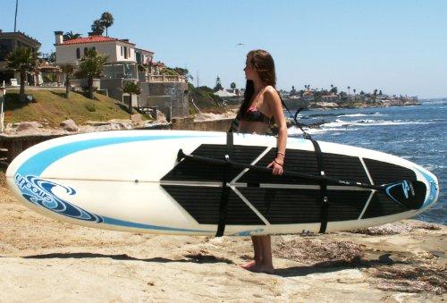 Big Board Schlepper Stand Up Paddleboard Easy Carry Strap SUP Shoulder Sling Board Carrier w/ Fanny Pack Storage
