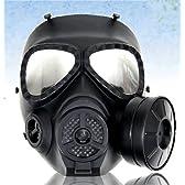 M04ガスマスク型 フルフェイスゴーグル BK くもり防止ファン搭載
